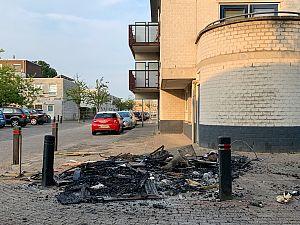 Brandende afvalberg