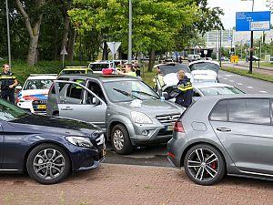 Landelijke politie rijdt verdachte klem