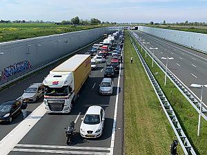 Verkeerschaos rond Schiedam