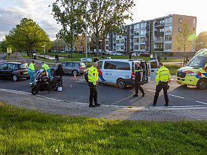 Motorrijder gewond op Nieuwlandplein