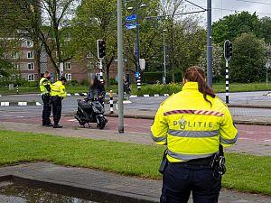 Politiecontrole op Nieuwe Damlaan
