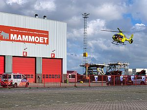 Traumahelikopter ingezet bij incident op bedrijfsterrein