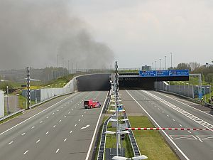 Autobrand in Ketheltunnel