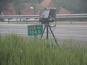 Snelheidscontrole op A4 richting Den Haag