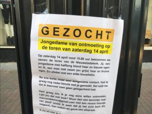 Zutphenaar plakt posters in zoektocht naar droomvrouw