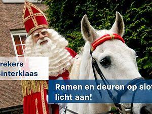 Inbrekers vieren ook Sinterklaas
