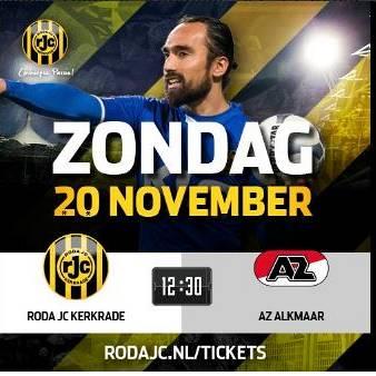 TIJDLIJN: Roda JC - AZ 1-1