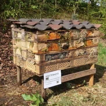 Buurtbewoners plaatsen insectenhotel