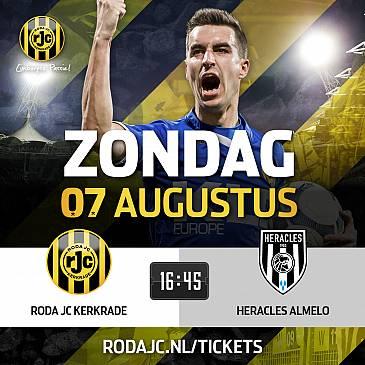 Roda speelt eerste thuiswedstrijd tegen Heracles