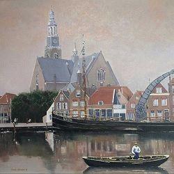 Schilderijen 'Oud Maassluis' in het Douanehuisje