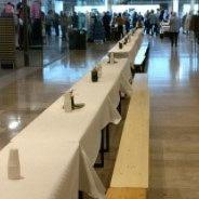Neem plaats aan de langste tafel