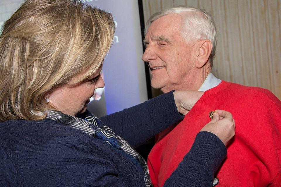 Jan Anderson onderscheiden door Rotary Club Vlaardingen