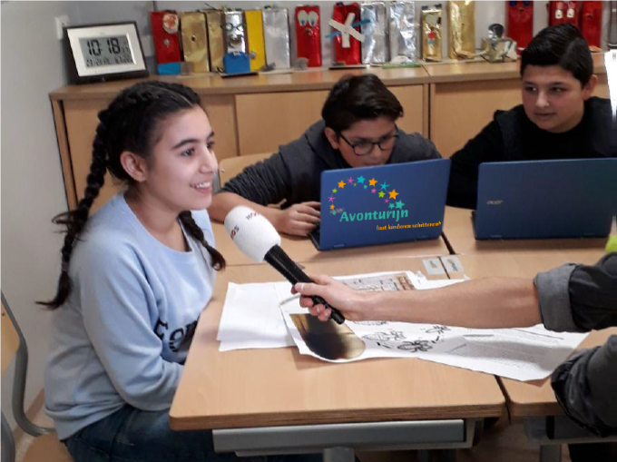 Groep 8 basisschool Avonturijn in jeugdjournaal!