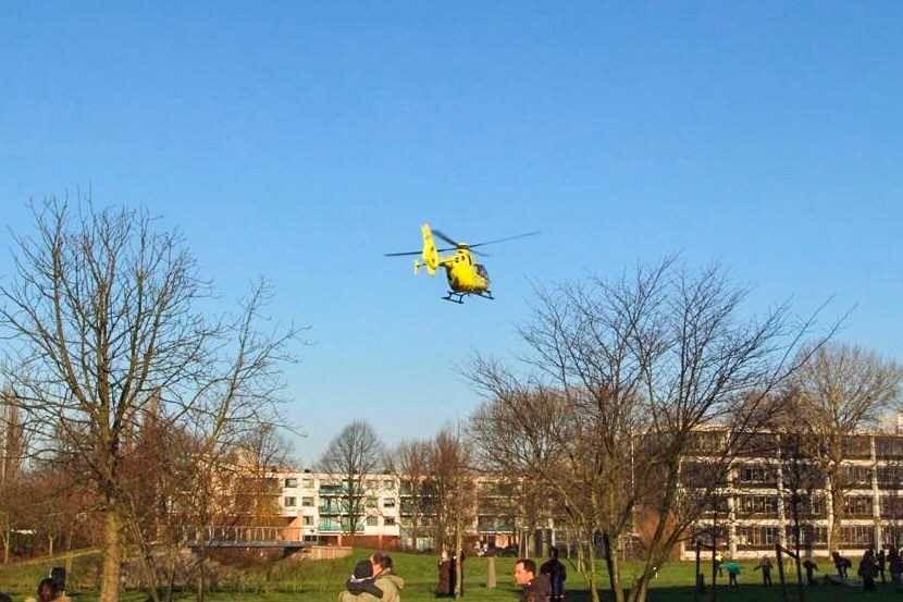 Traumahelikopter ingezet bij incident Marnixlaan
