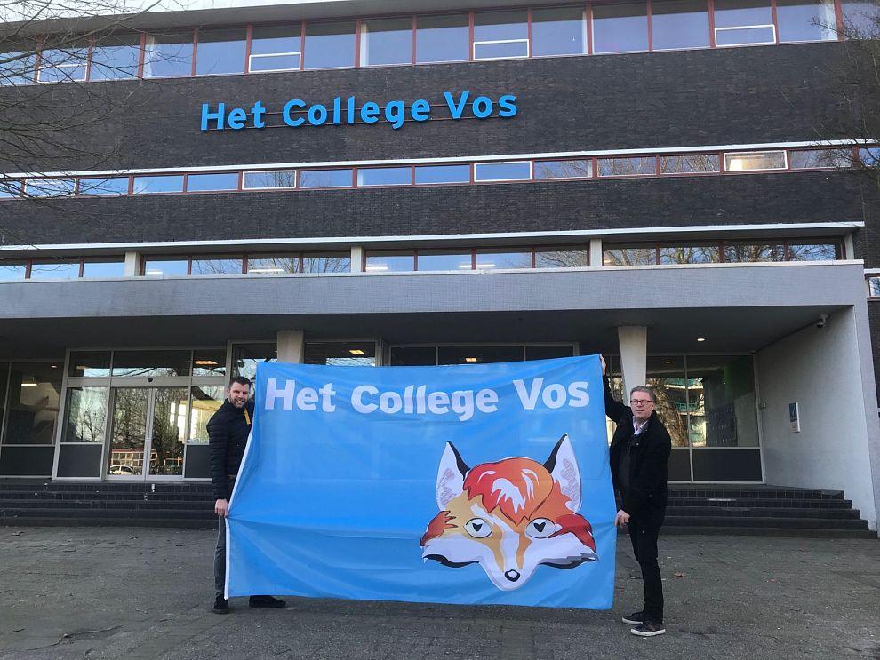 Het College Vos en Het Lyceum Vos eerste scholen met duurzame vlaggen