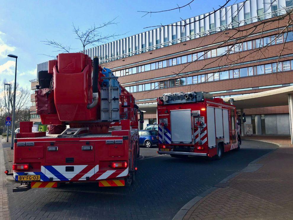 Wasdroger in brand Vlietland ziekenhuis