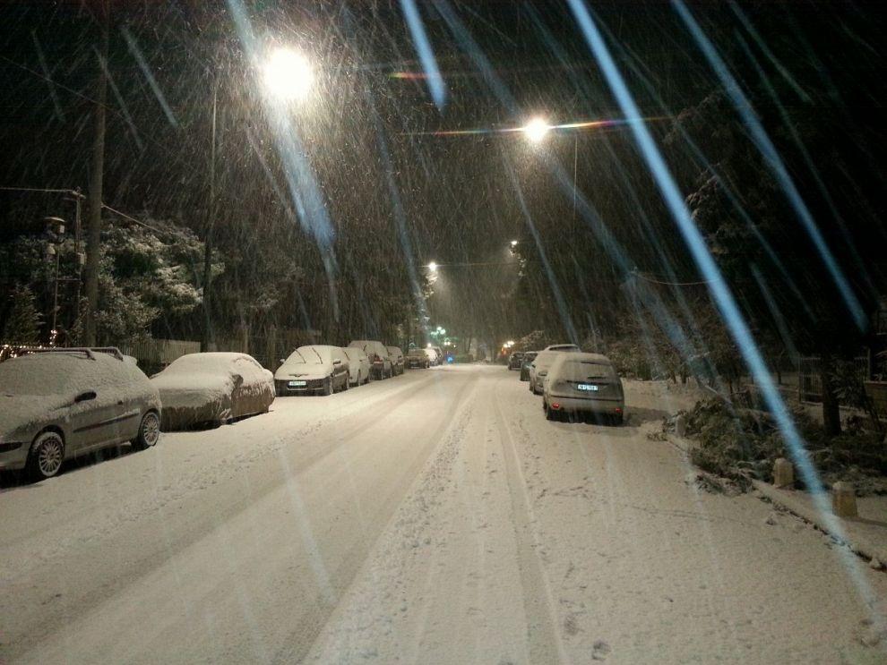 Sneeuwstorm in Nederland