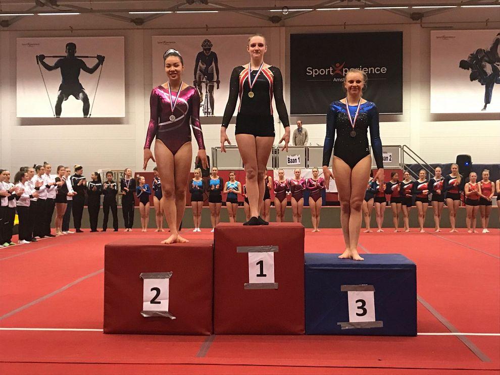 Jaimy Bordewijk districtskampioen turnen