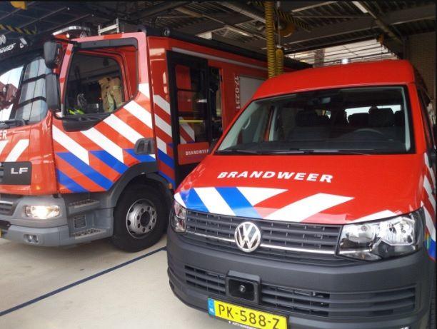 Nieuwe dienstbus voor Brandweer Maassluis