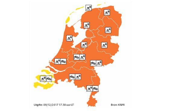 Code Oranje: extreem weer morgen!