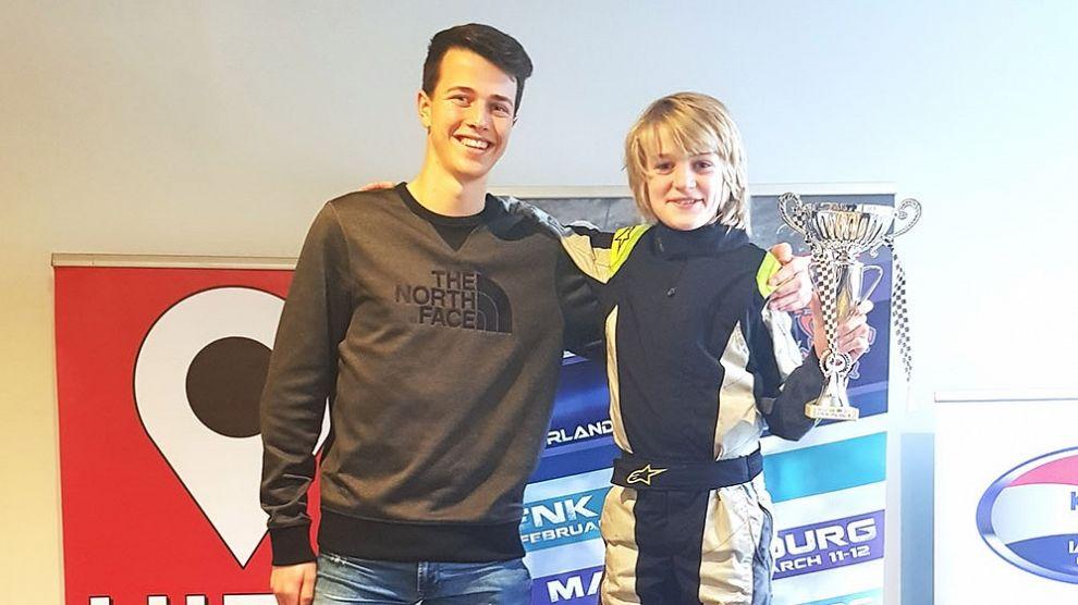Rocco de Heer gehuldigd als vice-kartkampioen
