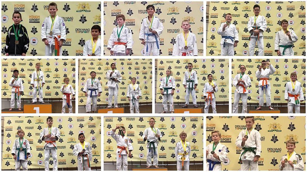 Tien keer podium voor judoka SI in Den Haag
