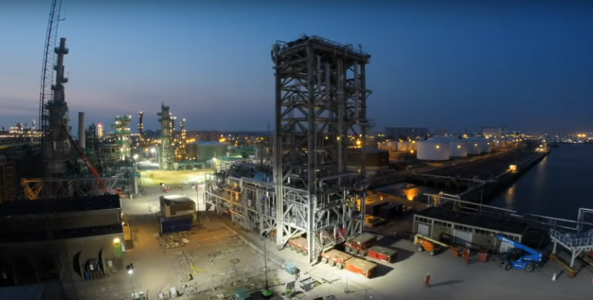 SDA-module van 650 ton naar Shell Pernis