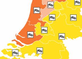 Code oranje voor regio