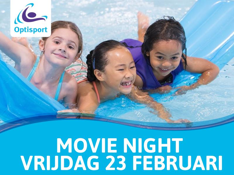 Movie Night in zwembad Groenoord