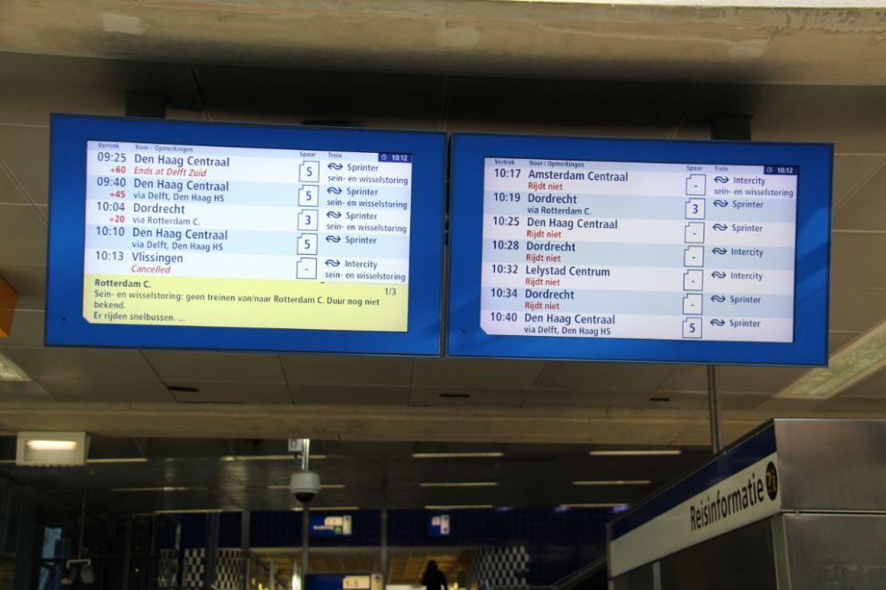 Storing legt treinverkeer op Schiedam-Centrum plat