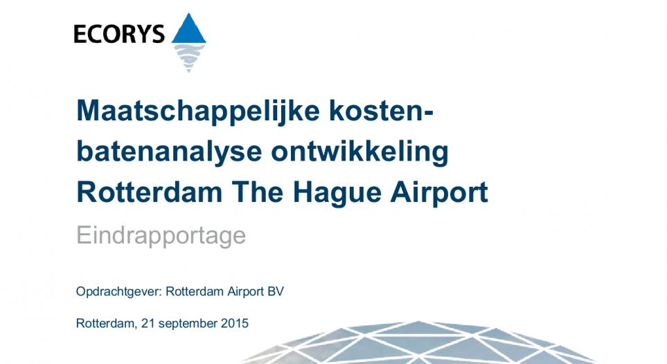 Vliegveld Rotterdam vermindert waarde huizen met honderd miljoen